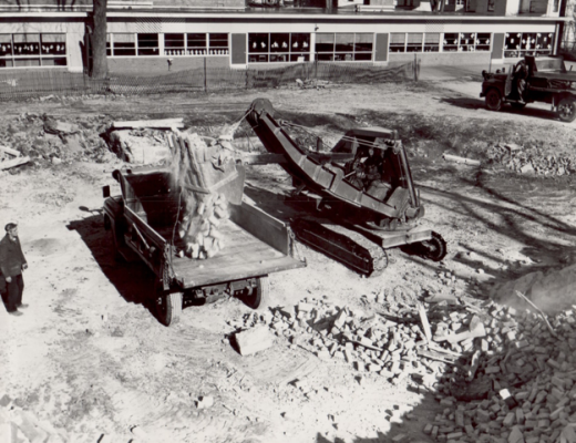 1956 demolition work (Margaret Murphy School in background)
