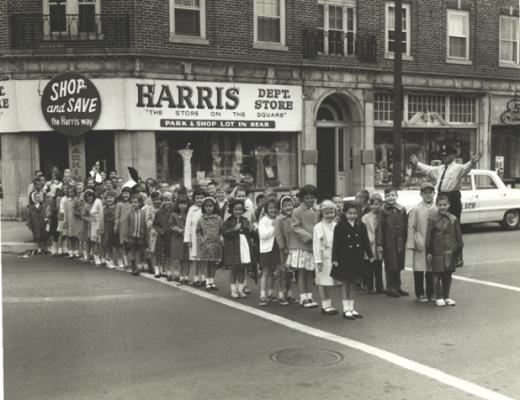 1965 Church Crossing at the Harris block