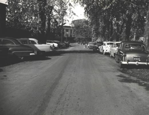 Oct. 12, 1954 Delaware Avenue looking towards John Street