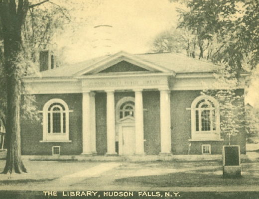 Hudson Falls Library on Main Street