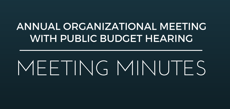 minutes of organizational meeting